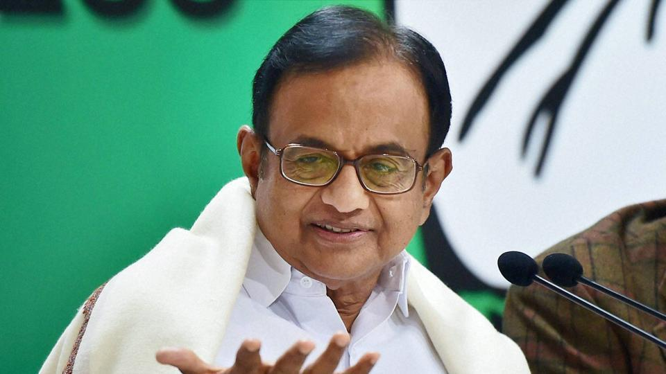 Congress leader and former finance minister P Chidambaram at a press conference at the party headquarters in New Delhi on December 30.