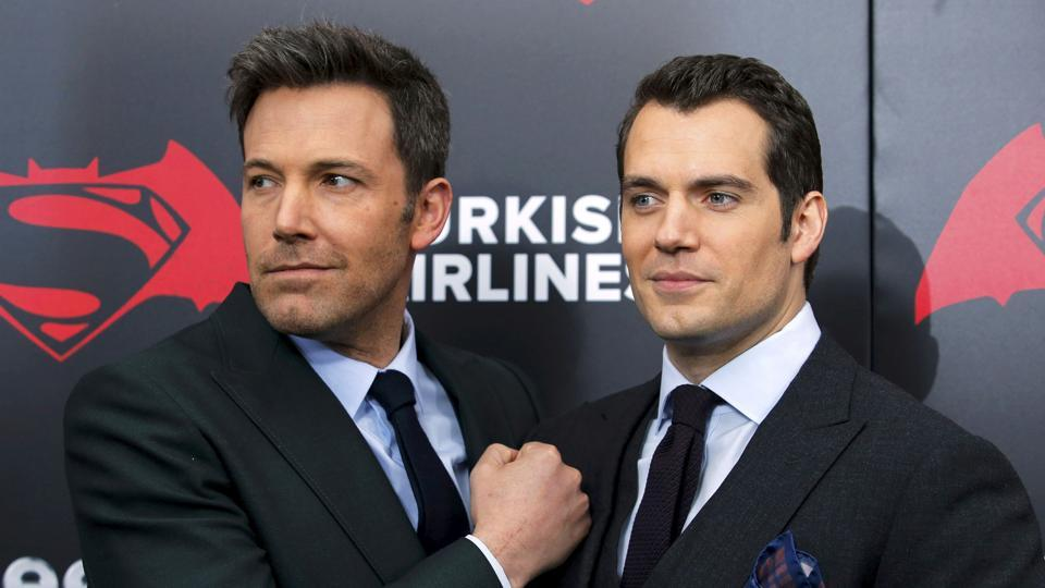 Cast members Ben Affleck (L ) and Henry Cavill attend New York premiere Batman V Superman: Dawn Of Justice at Radio City Music Hall in New York.