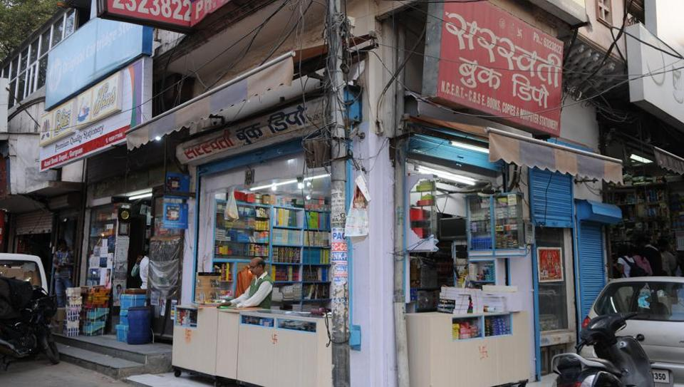 A book store in Sadar Bazar. Parents said NCERT books are always in short supply and the HRD ministry's decision might lead to chaos.