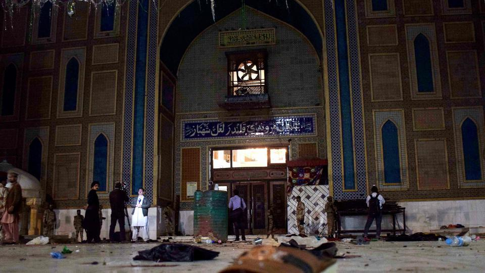 The Pakistan Army said it had information that terrorists in Afghanistan were behind Thursday's suicide bombing at the Lal Shahbaz Qalandar Sufi shrine in southern Sindh that killed 88 people.