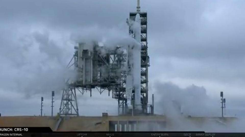 A SpaceX Falcon rocket blasted off Sunday morning from Kennedy Space Center's Launch Complex 39A.