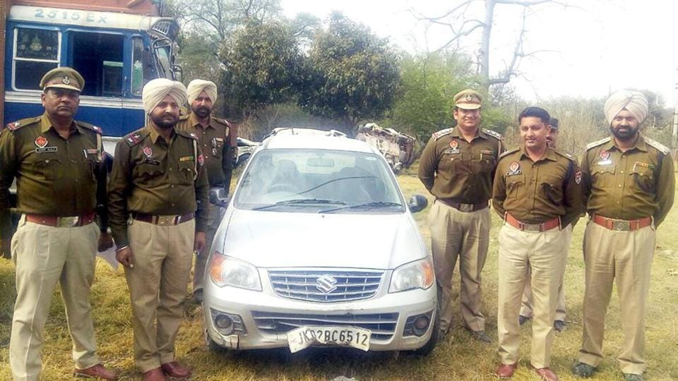 The police said the was found abandoned at Bhadrali village.