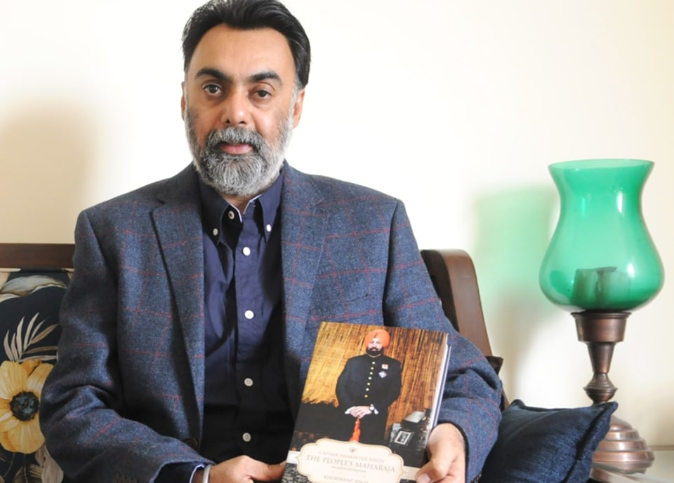 Khushwant Singh, author of Amarinder Singh's upcoming biography.
