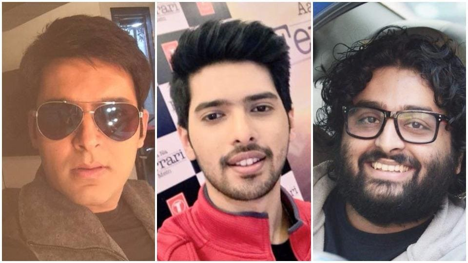 While Armaan (centre) was ranked number four, Arijit (right) was in the seventh position and Kapil (left) stood at number nine.