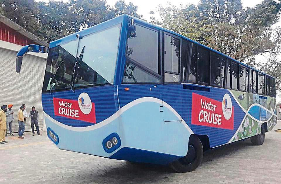 amphibious bus,Sukhbir Singh Badal,Harike lake