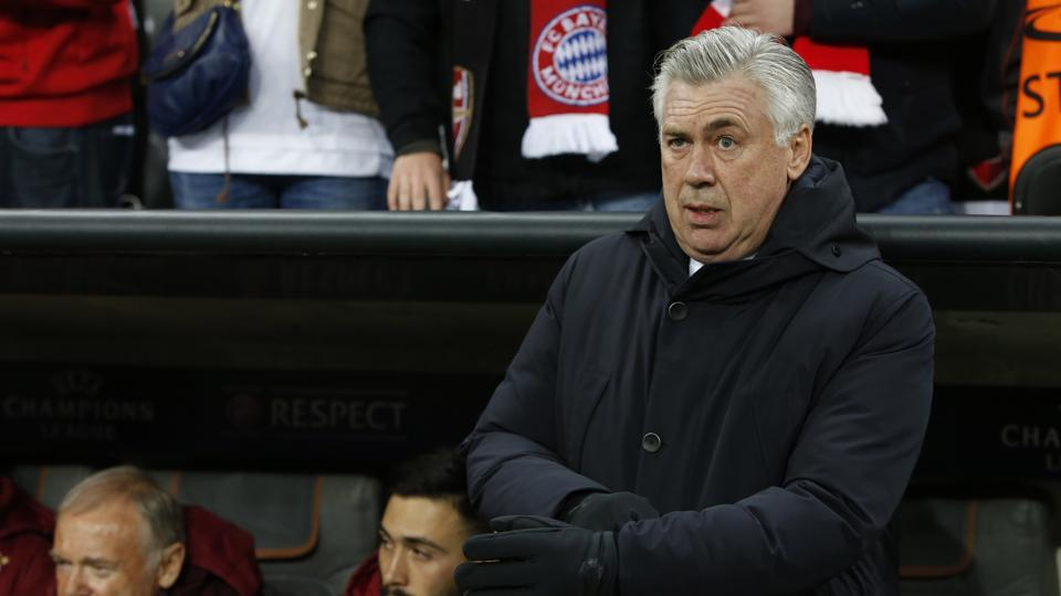 Bayern Munich coach Carlo Ancelotti is in the eye of a storm after gesturing at Hertha Berlin fans.