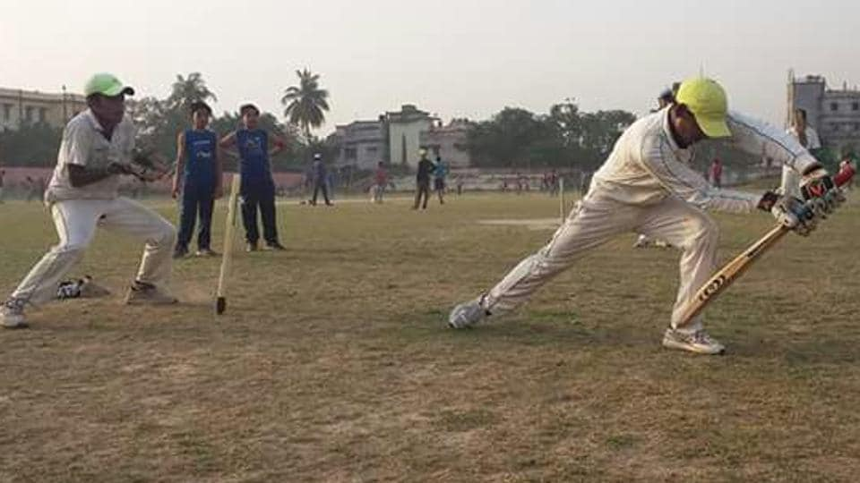 Cricket players at the BCA selection trials, in Patna.