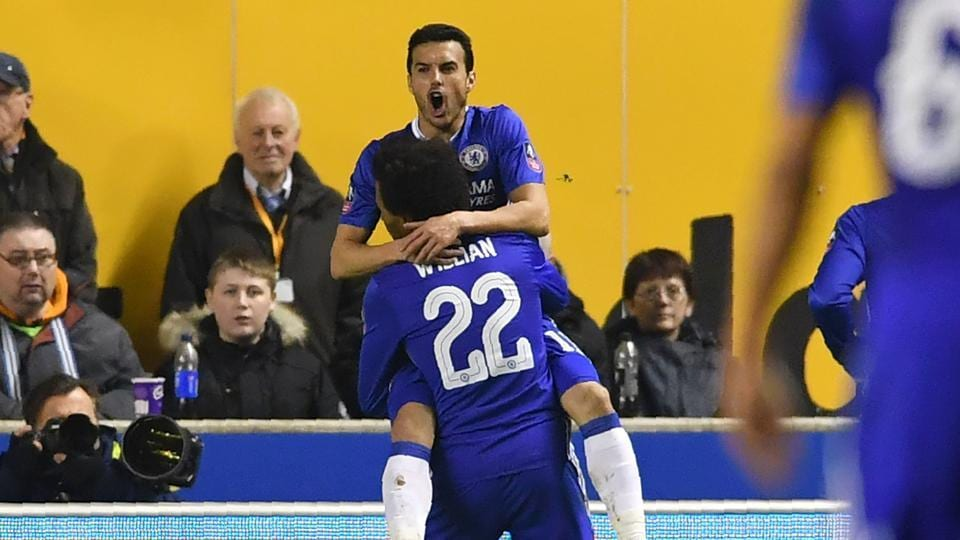 Chelsea F.C. defeated Wolverhampton 2-0 thanks to goals from Pedro and Diego as they stayed on course for an FACup double.