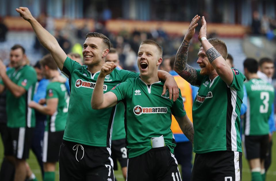 Lincoln City became the first minor league club since Queen's Park Rangers in 1914 to enter the quarterfinals of the FACup.