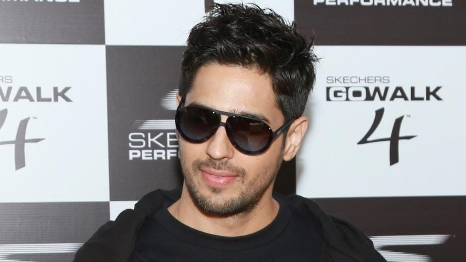 Actor Sidharth Malhotra during a promotional event in New Delhi on Saturday.