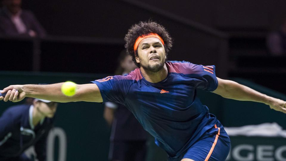 Jo-Wilfried Tsonga registered his 400th career win as he defeated Tomas Berdych to enter the final of the Rotterdam open where he will face David Goffin.