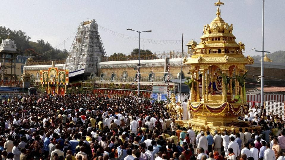 The laddu, made at the massive kitchen close to the shrine at nearby Tirumala, is in great demand among devotees, who throng the shrine from different parts of the country throughout the year.