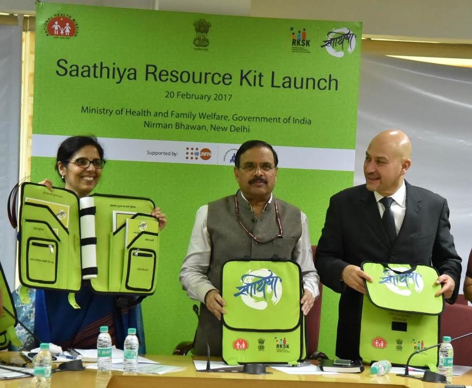Health Secretary, CK Mishra, launches Saathiya Resource Kit for adolescents