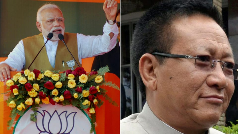 File photo of Prime Minister Narendra Modi and former Nagaland chief minister TR Zeliang.
