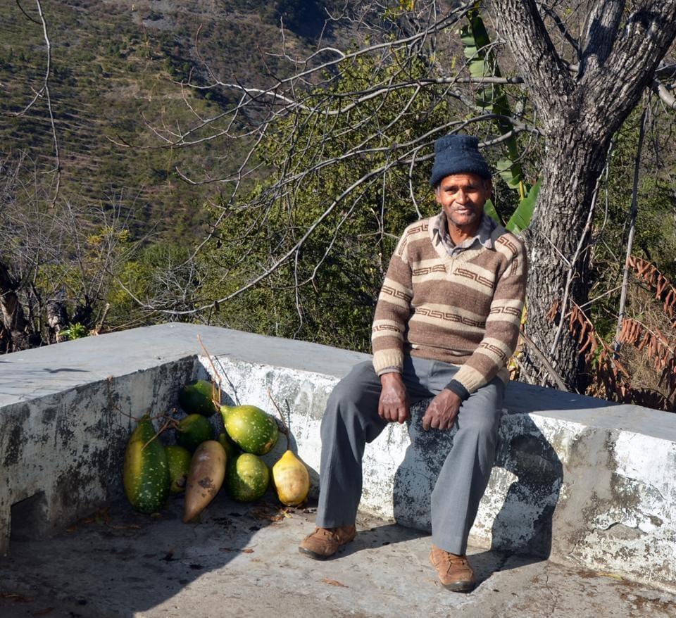 Shyam Prasad stays all alone at Baluni village in Pauri district of Uttarakhand.