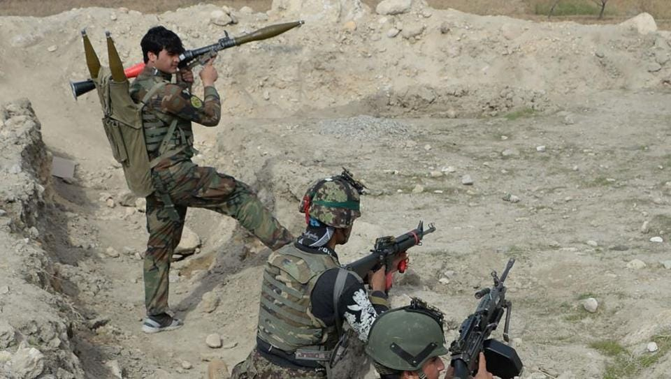 Afghan security forces have been battling Islamic State (IS) militants.