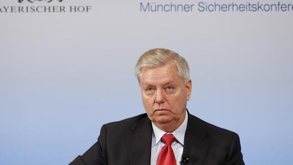 US senator Lindsey Graham attends the 53rd Munich security conference in Germany.
