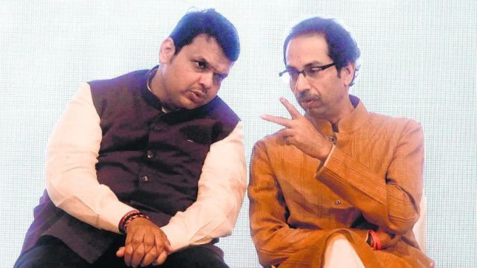 """During an interaction with the media at Varsha — his official bungalow — on Sunday, Fadnavis called the BMC election a """"bipolar contest"""" between the Sena and the BJP."""