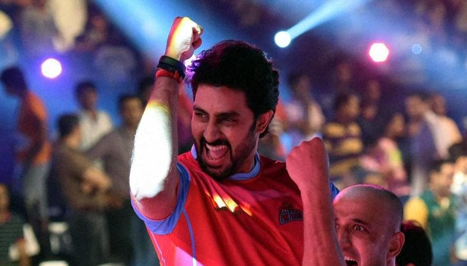 Actor Abhishek Bachchan owns the team Jaipur Pink Panthers in Pro Kabaddi League.
