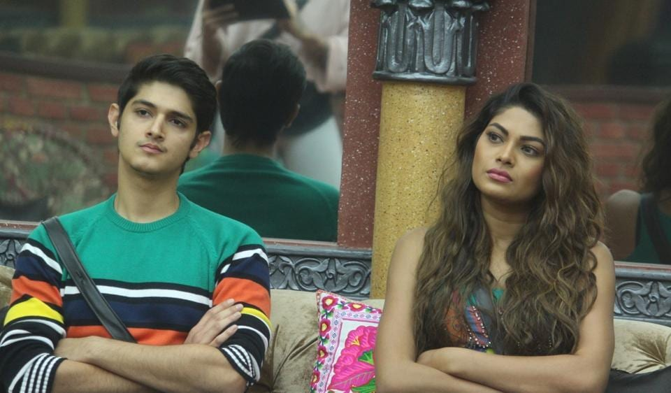 Bigg Boss 10 contestants Rohan Mehra and Lopamudra Raut in a still from the reality show.