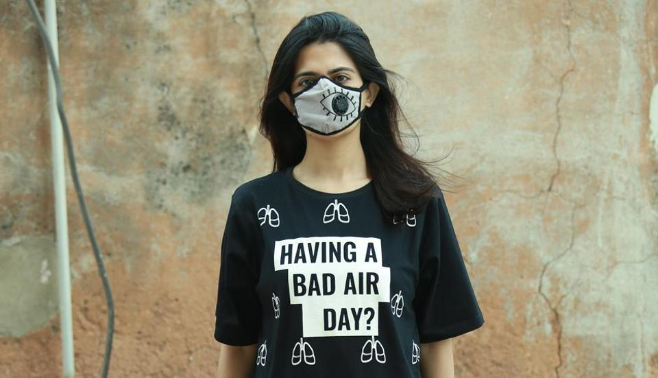 Designer Gaurav Gupta is campaigning to raise awareness about the city's alarming pollution.
