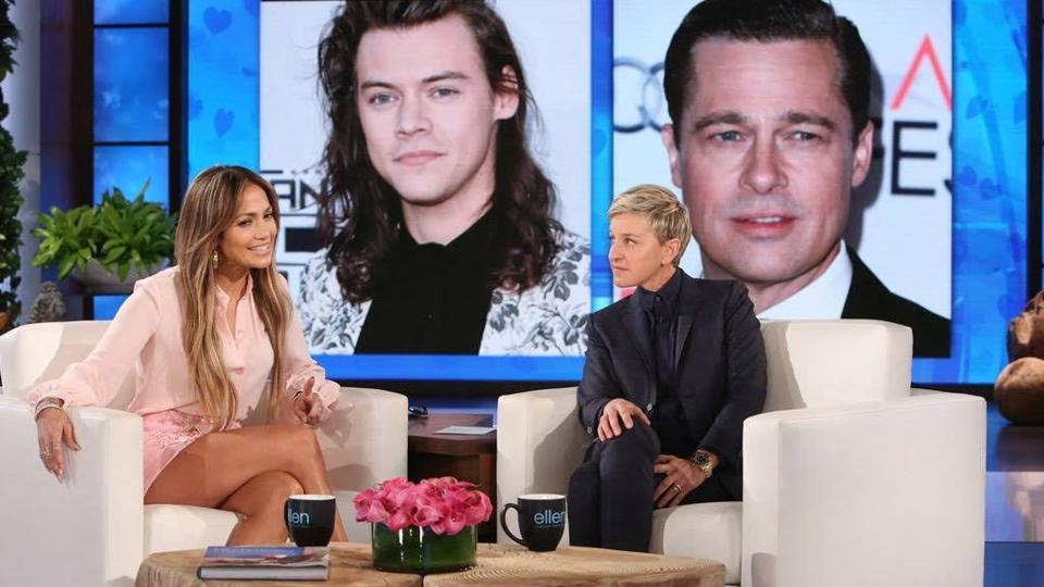 Jennifer Lopez,The Ellen Show,Ellen Degenres