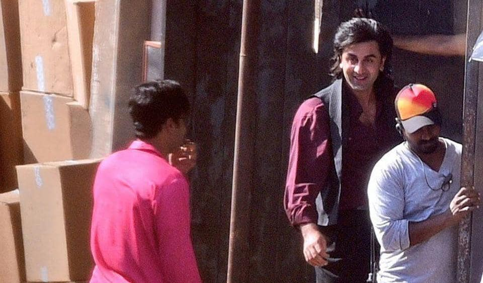 Ranbir Kapoor's look as Sanjay Dutt for Rajkumar Hirani's biopic