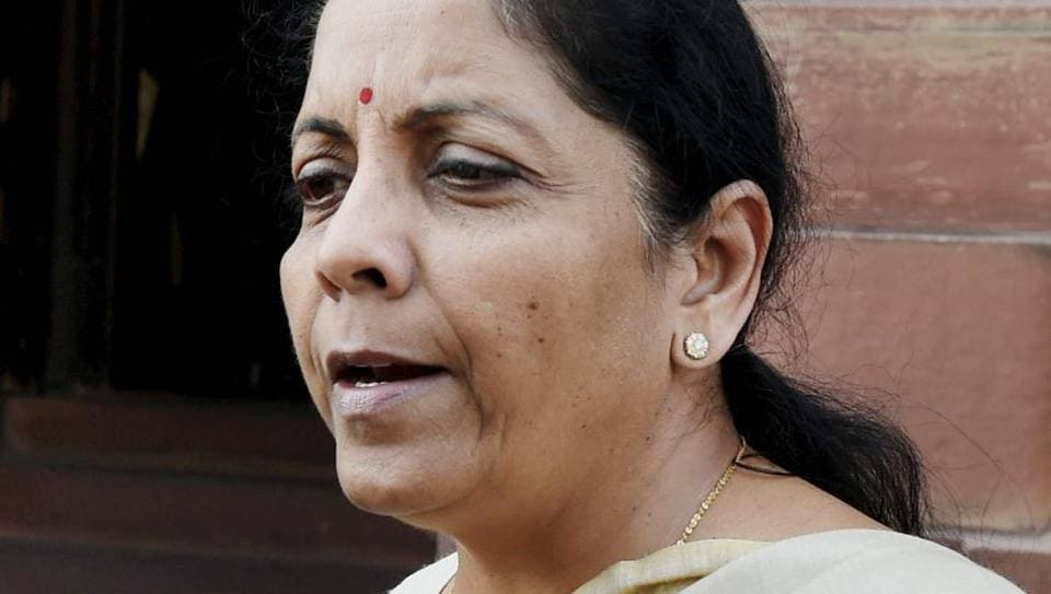 Commerce and industry minister Nirmala Sitharaman at Parliament during the budget session in New Delhi.