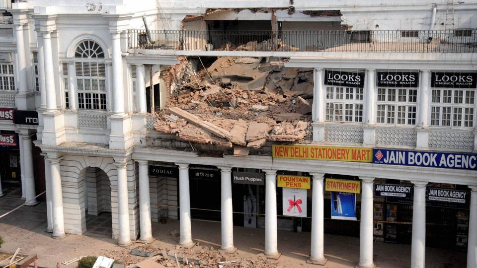 Connaught Place,CP,Roof collapse in CP