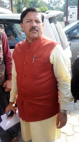 BJP state in-charge Shyam Jaju outside party office in Dehradun.