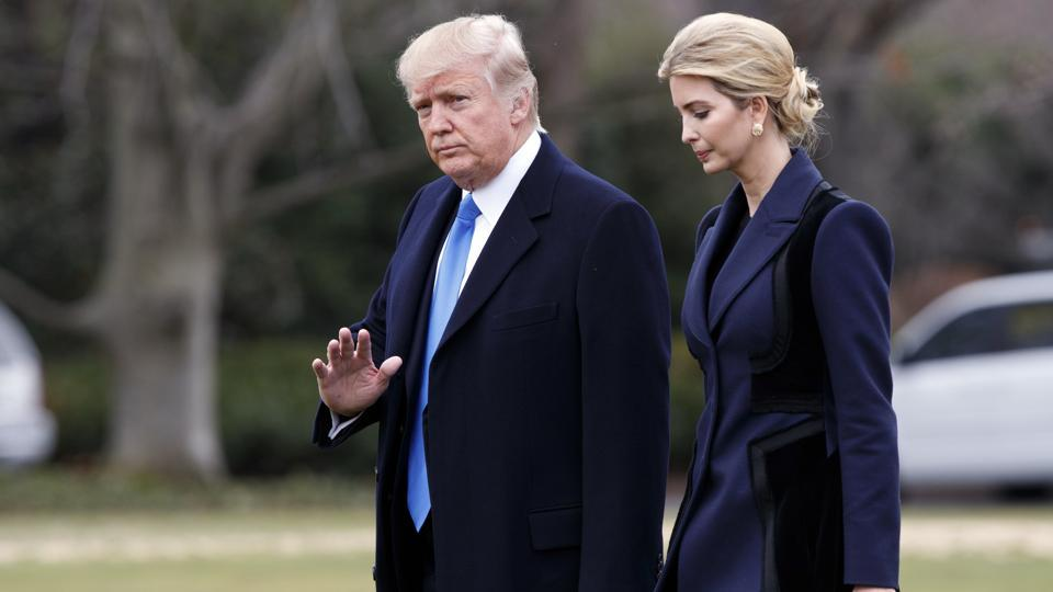 US President Donald Trump and his daughter Ivanka.