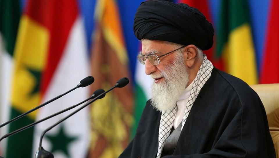 "Iran's supreme leader on Tuesday used the podium of a pro-Palestinian gathering in Tehran to lash out at Israel, calling the Jewish state a ""fake"" nation in a ""dirty chapter"" of history."
