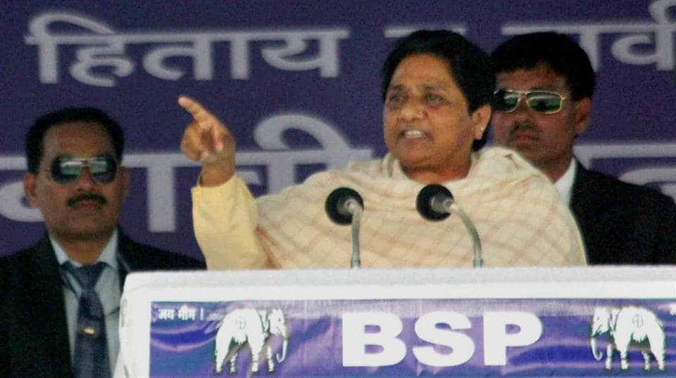 """Referring to Modi's """"graveyard-cremation ground"""" and """"Diwali-Eid"""" comments, Mayawati said such a view is aimed at giving casteist and communal colour to polls."""