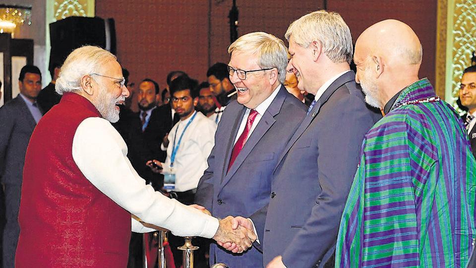 Raisina Dialogues,Narendra Modi,Stephen Harper