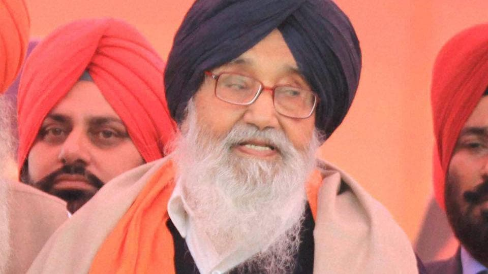 SYL,Parkash Singh Badal,water shortage