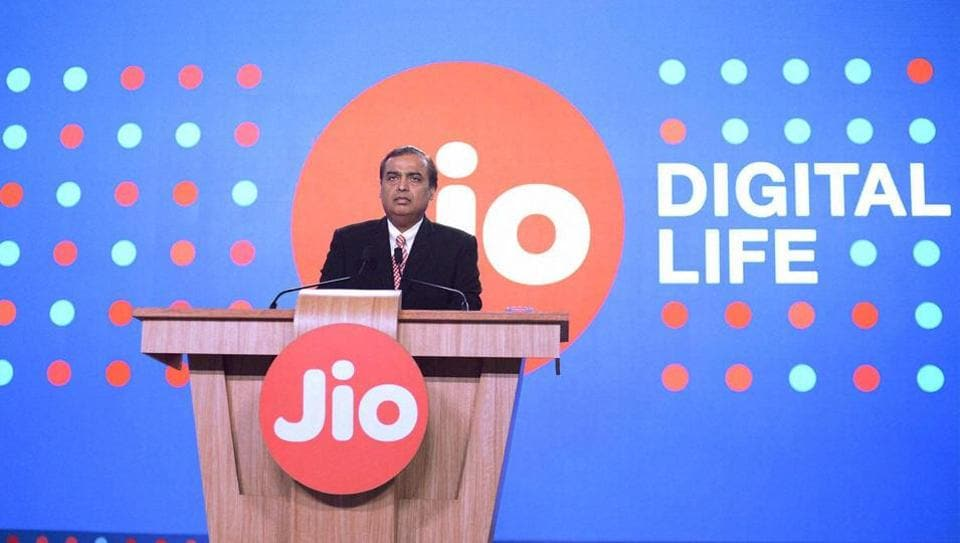 Reliance Industries Limited chairman Mukesh Ambani speaks during a press briefing of Reliance Jio, in Mumbai.