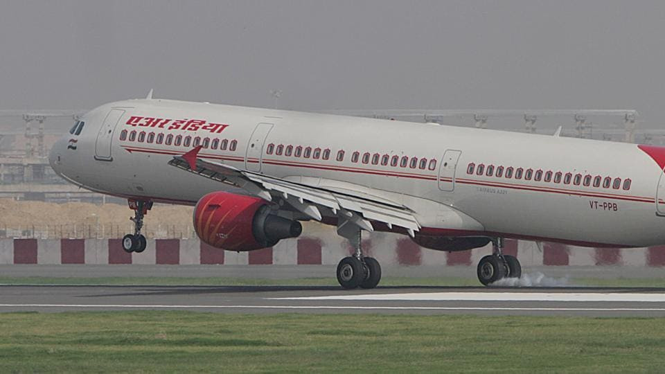 A Delhi-bound Air India plane was grounded after some technical glitches developed in the airplane