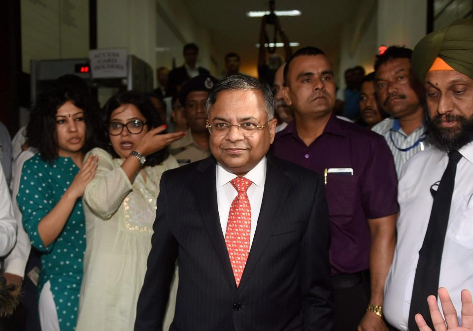 Mumbai: Newly appointed Tata Sons Chairman, Natarajan Chandrasekaran arrives at Bombay House in Mumbai on Tuesday.