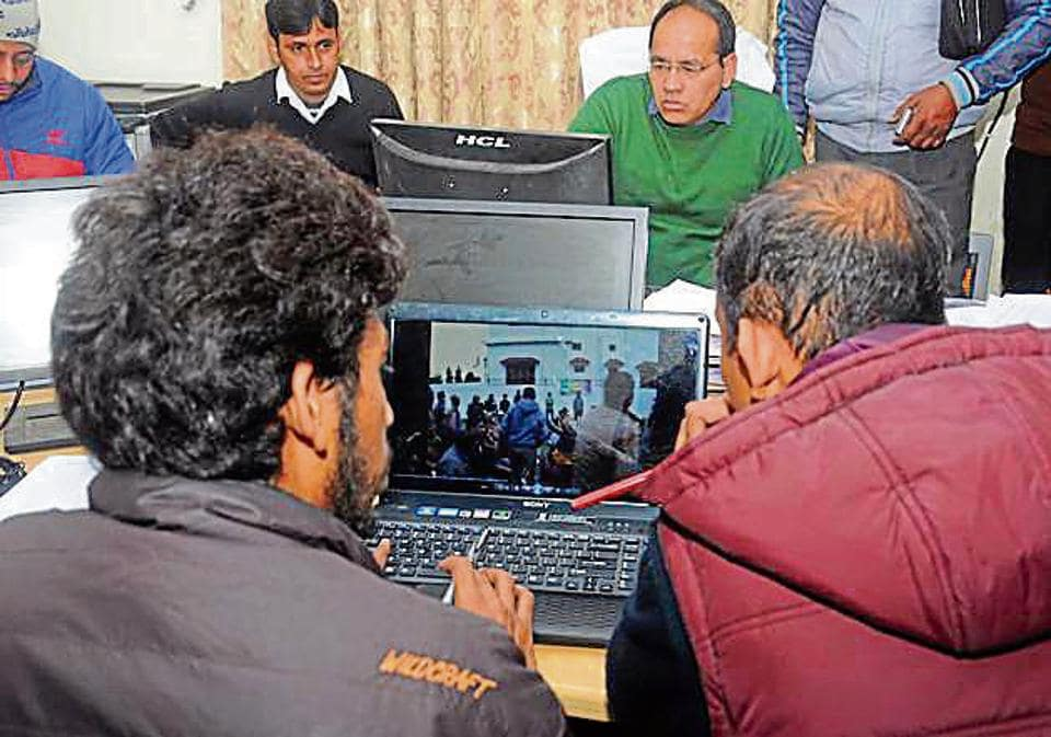 Election expenditure monitoring team at work in Dehradun on Tuesday.
