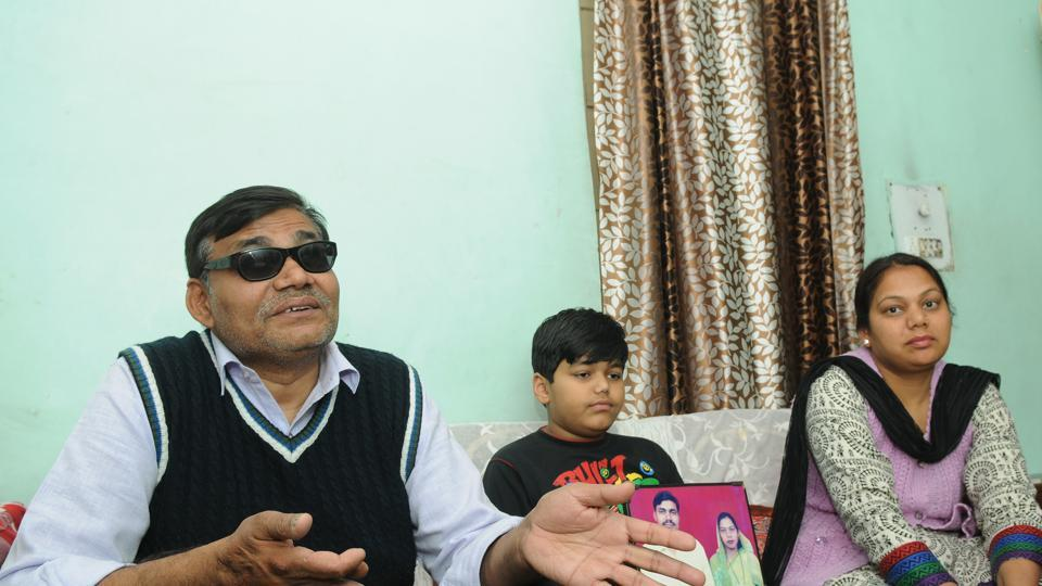 Kuldeep Singh, the survivor of the 2005 Delhi serial blasts, at his home in Shadipur, in New Delhi.
