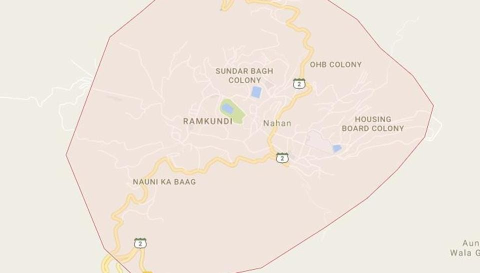Map of Nahan in Sirmaur district