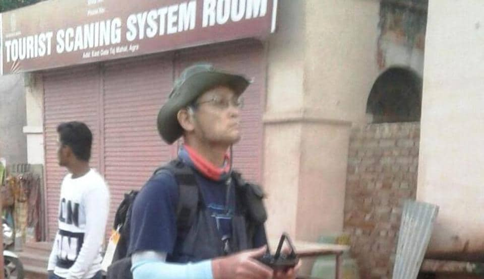 Chun Hong Chul, a South Korean professor, who flew a drone over Taj Mahal.
