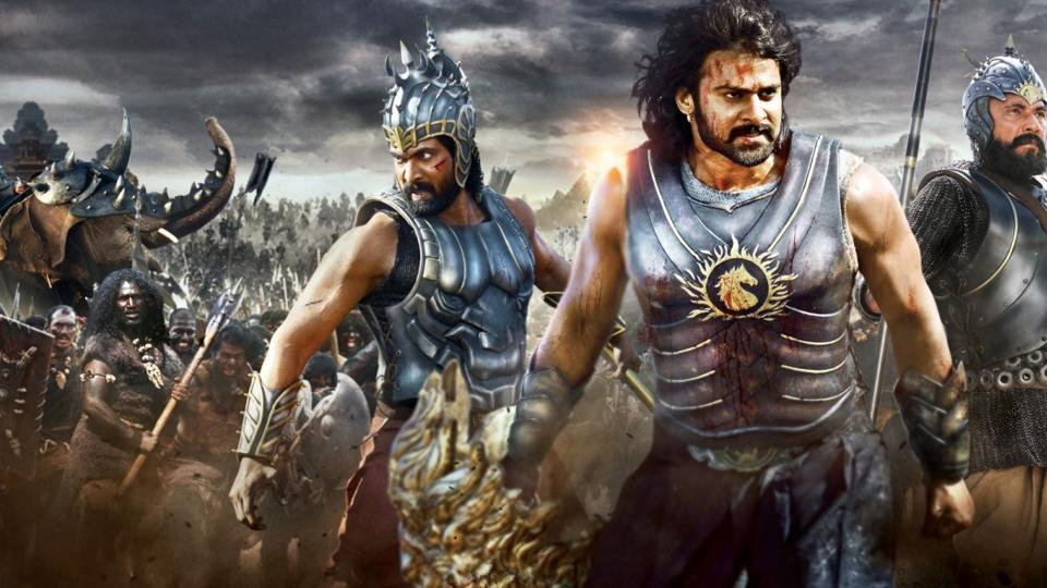 A poster of the movie, Bahubali.