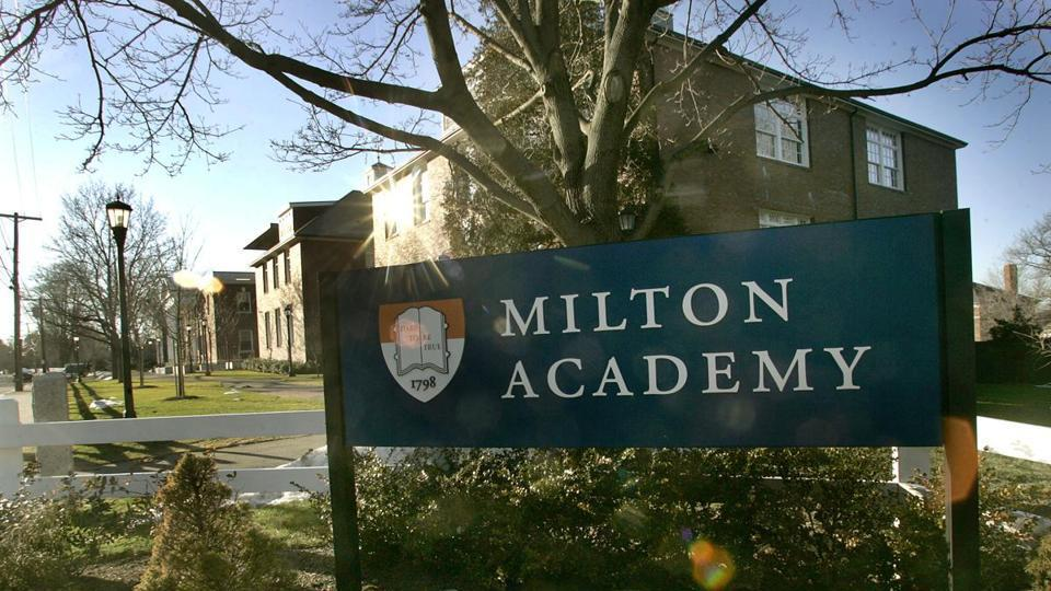Milton Academy near Boston.