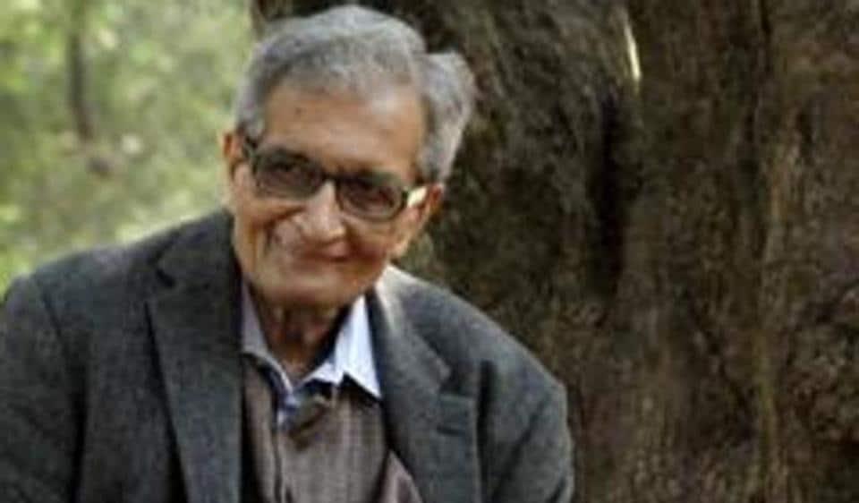 Nobel Laureate Amartya Sen during the shooting of a documentary film on him, at Visva-Bharati University, Shantiniketan in West Bengal.