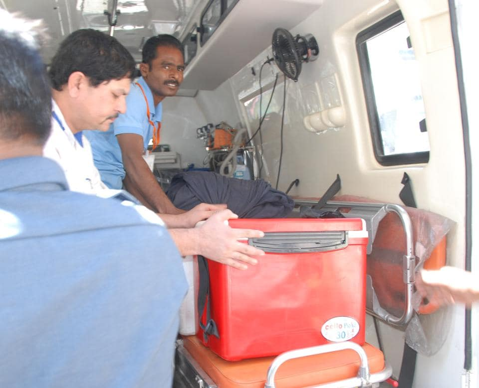 A team of doctors from the hospital rushed to Aurangabad on Tuesday morning, when Zonal Transplant Coordination Committee officials informed them about the availability of the organ.