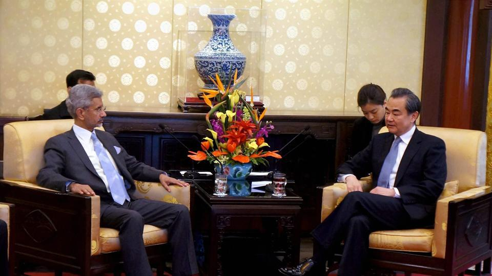 Foreign Secretary S Jaishankar holding talks with Chinese Foreign Minister Wang Yi in Beijing ahead of the strategic dialogue.