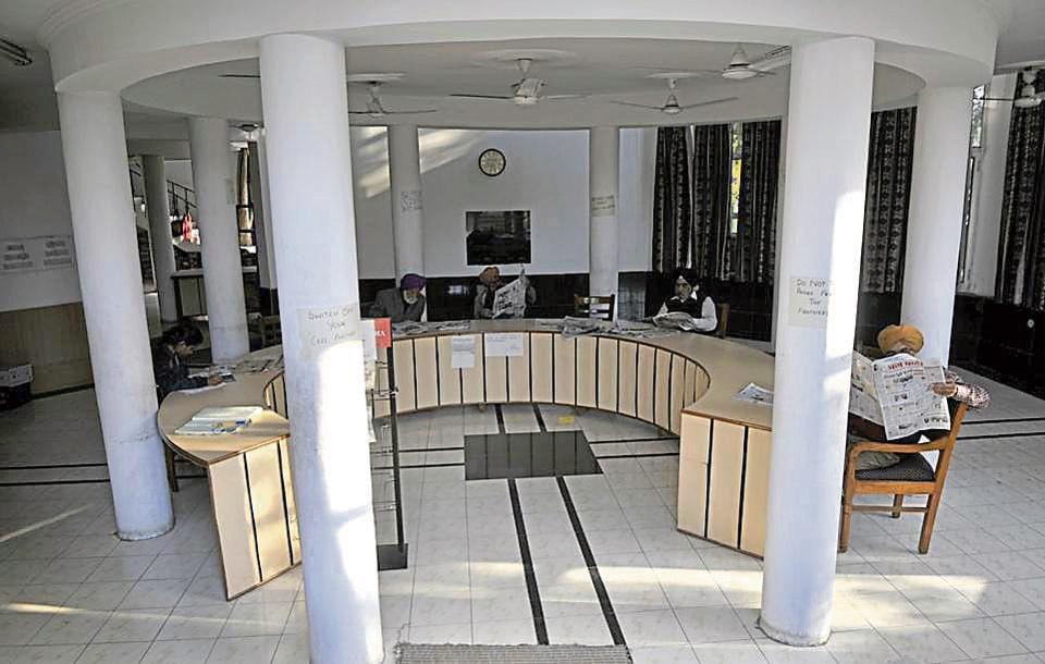 The library in Silvi Park, Phase 10, SAS Nagar on Wednesday.