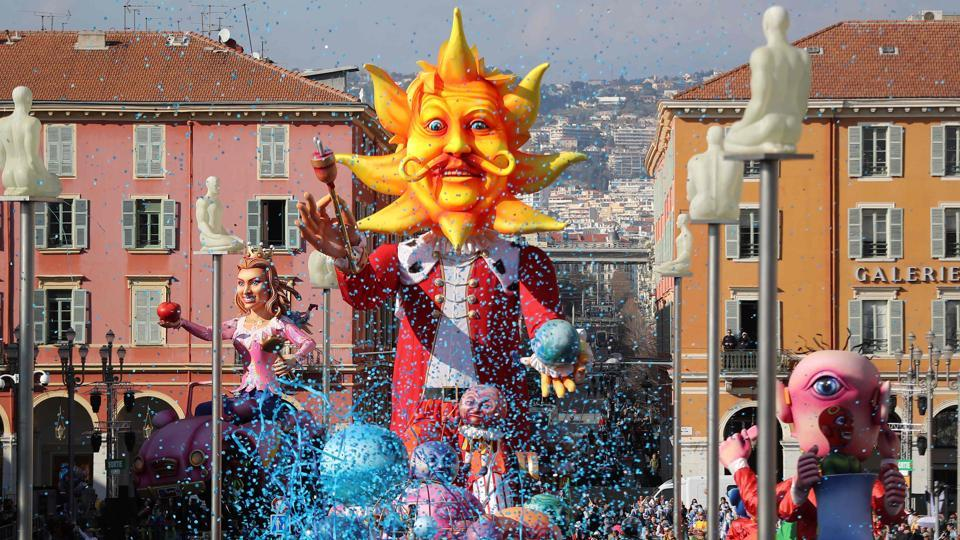 The Nice Carnival is one of the world's major carnival events, alongside the Brazilian Carnival and Venetian Carnival.  (VALERY HACHE / AFP)
