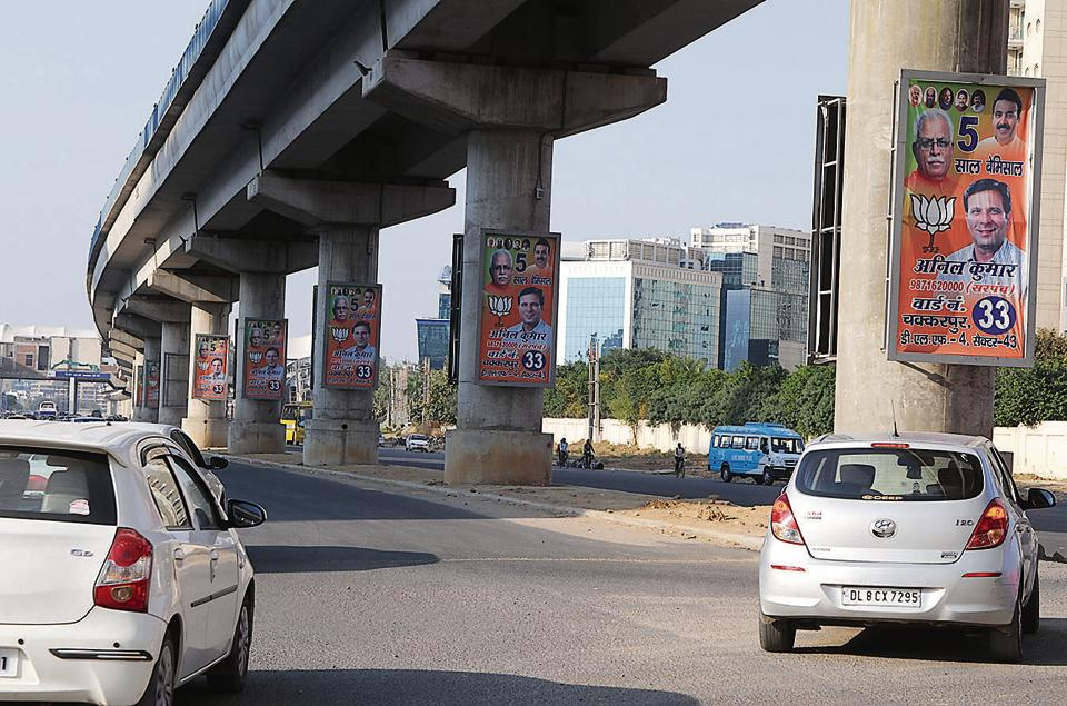 Even before the court could decide on the delimitation issue surrounding the MCG polls, some BJP leaders put up posters across the city in anticipation of being handed tickets to contest the elections.